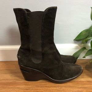 Cole Haan Nike Air brown suede ankle boots 8B